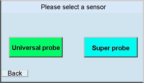 gpa 3000 display probe menu
