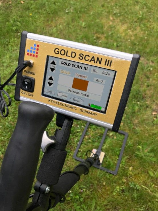 KTS Electronic GOLD SCAN electronic unit with 30cm coil
