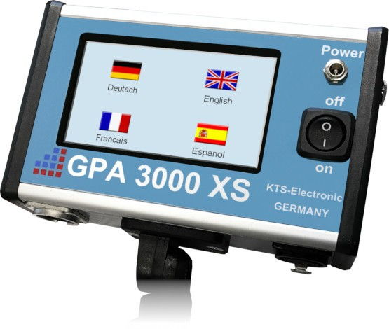 GPA 3000 XS电子单元-语言菜单