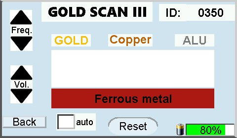 gpa 3000 display gold scan iii ferrous
