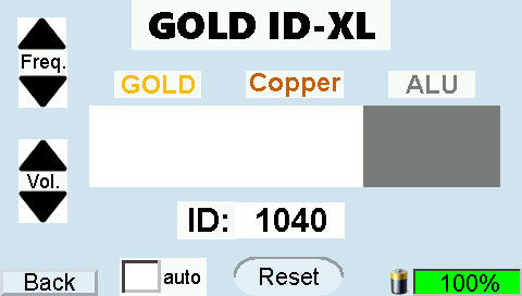 GOLD-ID-XL display Alu