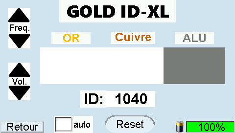 GOLD ID-XL Display Aluminum