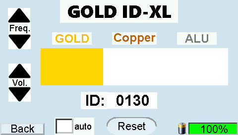 GOLD-ID-XL display Gold